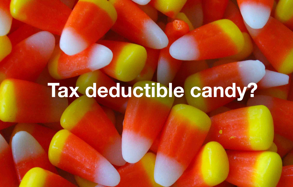 Tax deductible candy