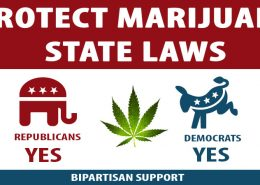 bipartisan support for state laws on Marijuana
