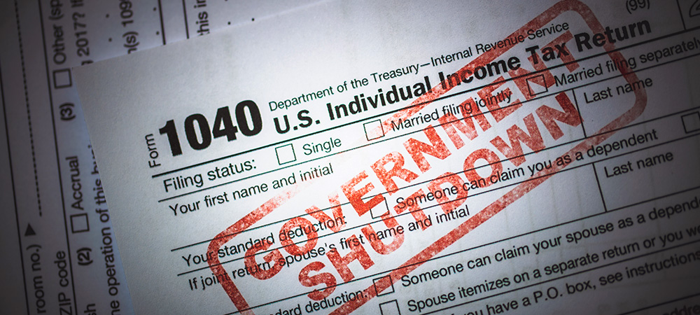 IRS tax forms - Government Shutdown