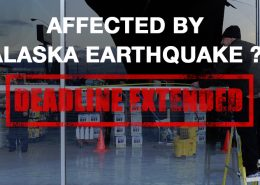IRS tax return filing deadline extension for those affected by Alaska Earthquake